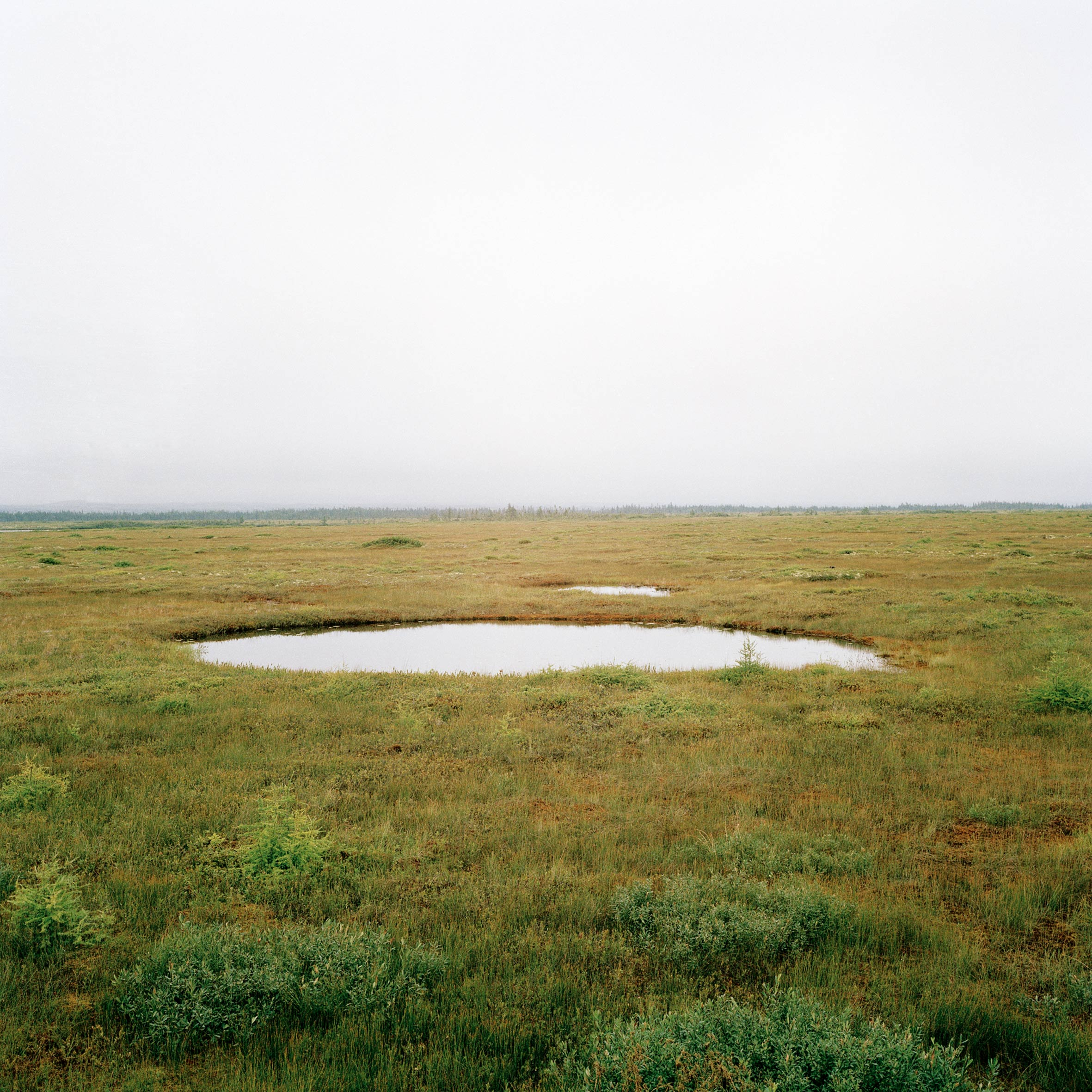 marcher créer, périple autobiographique, territoire du Labrador au Québec, paysage, désert, paysage désertique, flac d'eau, lac, ciel