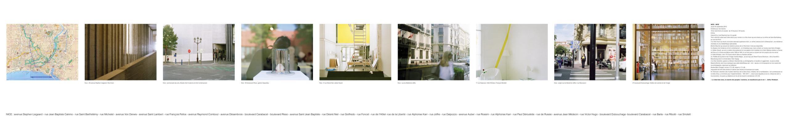 """""""L'art contemporain et la Côte d'Azur, un territoire pour l'expérimentation 1951-2011"""", marcher créer, déambulation, marche urbaine, paysage urbain, paysage périurbain, paysage de la campagne, territoire de la Côte d'Azur,"""