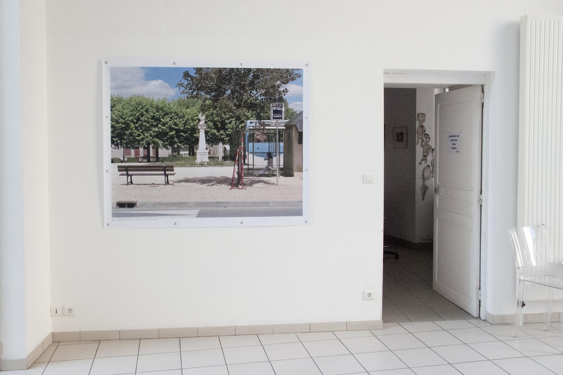 """exposition """"la ligne acadienne, traces d'un photographe marcheur"""" au Centre d'Art Contemporain de Châtellerault dans la Vienne, marcher/créer, déambuler, parcourir, photographier, paysage urbain, paysage périurbain, paysage de la campagne, territoire du Poitou-Charente,"""